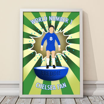 Personalised A3 World Number One Football Fan Print