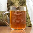 Personalised Tankard For The Usher