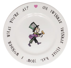 Mad Hatter Fine Bone China Tea Plate