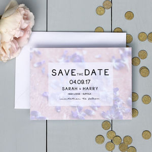 Floral Lavender Save The Date Card
