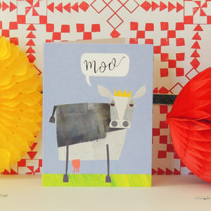 Cow Mini Greetings Card