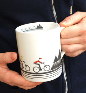 Mountain Bikers Bone China Mug
