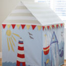 Large Children's Beach Hut And Seaside Play Tent
