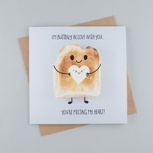 I'm Butterly In Love With You Greeting Card - valentine's cards