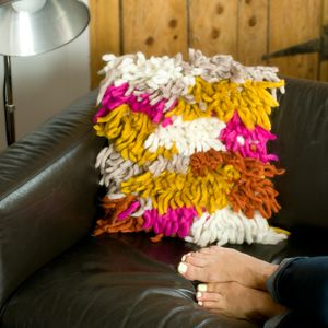 Shaggy Wool Hand Knitted Cushion - view all new