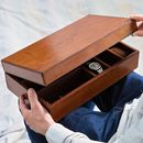 Mens Personalised Leather Watch And Jewellery Box