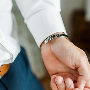 Wedding Or Anniversary Date Bracelet For Him