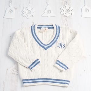 Baby Personalised Monogrammed Cricket Jumper