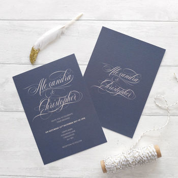 Calligraphy Wedding Invitation Set