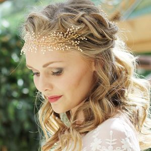 Julianne Gold Bridal Hair Vine