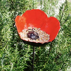 Poppy Birdfeeder And Tealight Holder - birds & wildlife