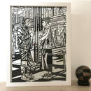 London Chinatown Original Handmade Papercut