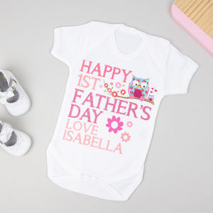 Personalised First Father's Day Bodysuit - father's day gifts