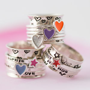 Personalised Candyfloss Spinner Ring - rings