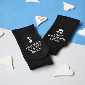 First Dance Wedding Socks