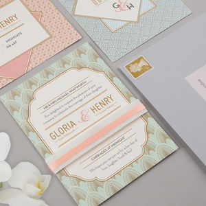 Decodence Wedding Invitation Set - invitations