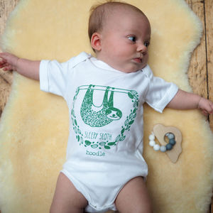 Organic Sleepy Sloth Baby Grow