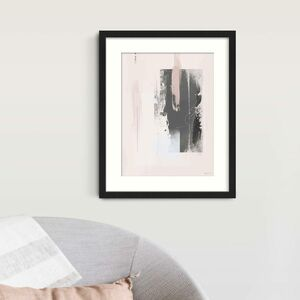Pink And Grey Minimal Abstract Print