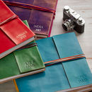 Personalised Fair Trade Three String Leather Albums