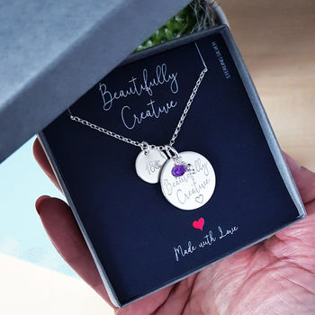 Sterling Silver 18th Birthday Personality Necklace