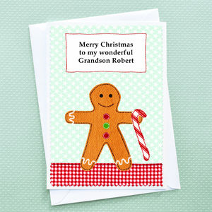 'Gingerbread' Personalised Childrens Christmas Card