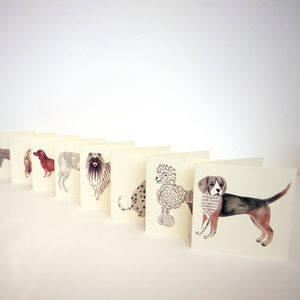 Greeting Card Mini Dogs - blank cards