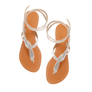 Aspiga Cobra Flat Silver Sandal - shoes