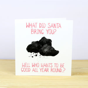 Lumps Of Coal Christmas Card - cards