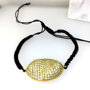 Golden Pave String Bracelet