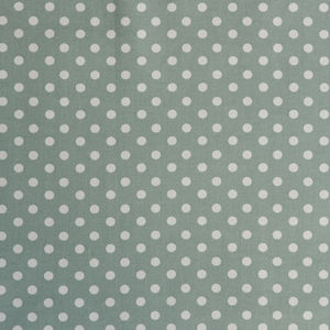 Madelaine Sage Spot Organic Cotton Fabric By The Metre - throws, blankets & fabric