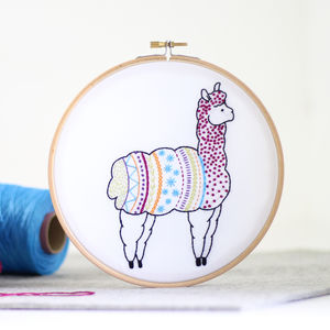 Alpaca Contemporary Embroidery Craft Kit
