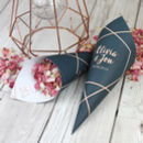 Geometric Personalised Wedding Cones With Confetti