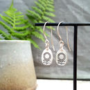 Sunflower Silver Dangle Earrings