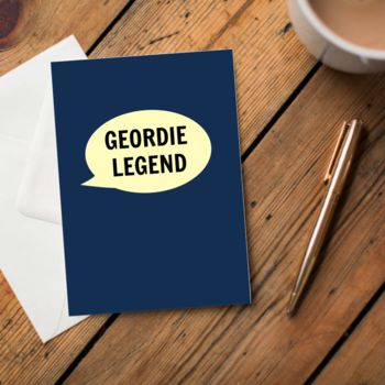 Geordie Legend Card
