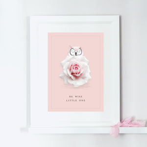 Personalised Wise Owl Children's Print