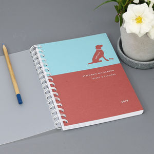 Personalised 2019 Diary For Dog Lovers