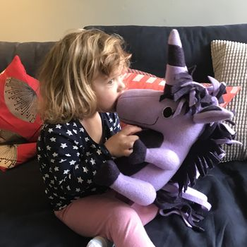 Personalised Large Unicorn Soft Toy