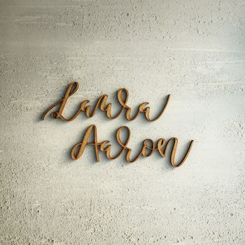 Modern Calligraphy Laser Cut Place Name
