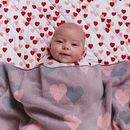 Heart Pattern Baby Blanket