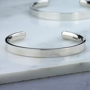 Men's Chunky Silver Torque Bangle Hand Made - 21st birthday gifts