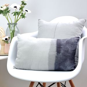 Grey Linen Ombre Cushion - plain cushions