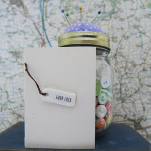 'Good Luck' Porcelain Tag Card - shop by category