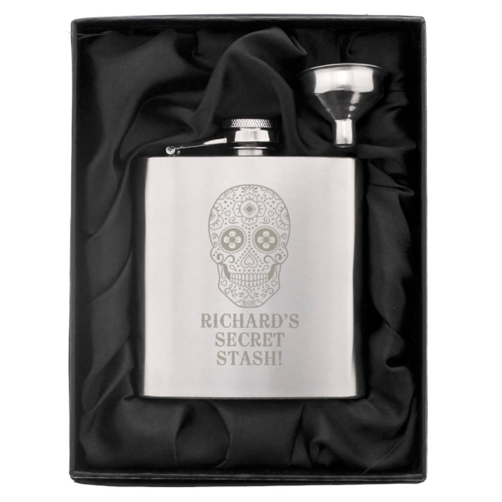 Personalised Hip Flask Christmas Gift