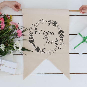 Wreath Wedding Banner