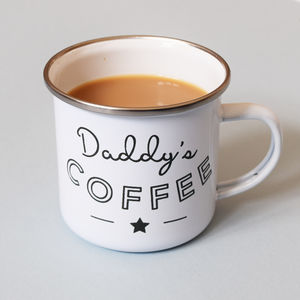 Personalised Daddy Enamel Camping Mug - new in garden