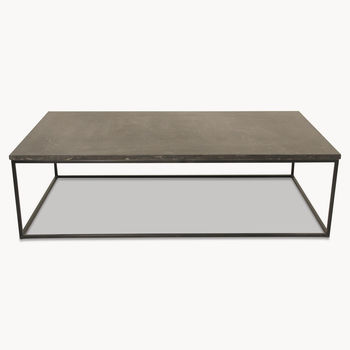 Kingswood Coffee Table With Blue Stone Top