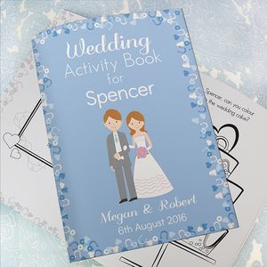 Personalised Kids Wedding Activity Book - books