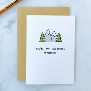 'You're My Favourite Adventure' Card