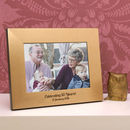 Personalised Gold 50th Wedding Anniversary Photo Frame