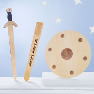 Personalised Wooden Sword And Shield Set - personalised